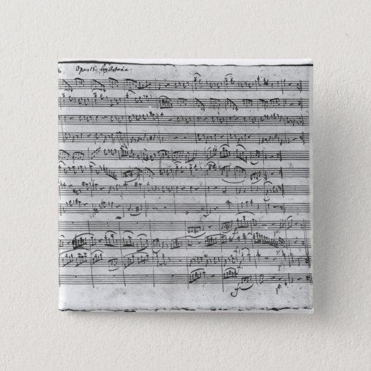 G major for violin, harpsichord and violoncello 3 15 cm square badge