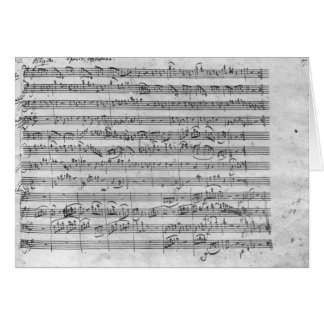 G major for violin, harpsichord and violoncello 3 greeting card