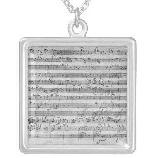 G major for violin, harpsichord and violoncello 3 silver plated necklace