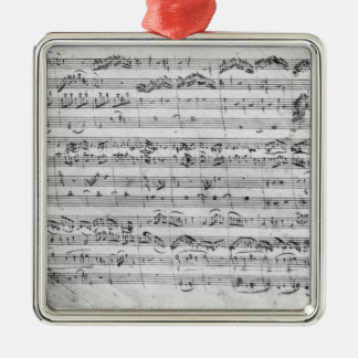 G major for violin, harpsichord and violoncello christmas ornament