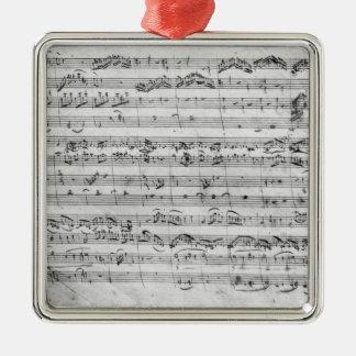 G major for violin, harpsichord and violoncello christmas ornament