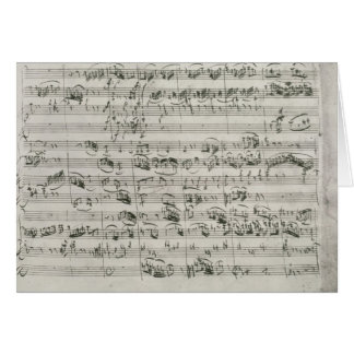 G major for violin, harpsichord and violoncello greeting card