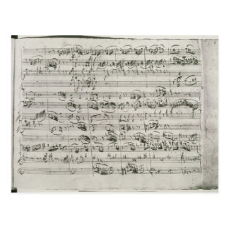 G major for violin, harpsichord and violoncello postcard