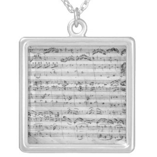 G major for violin, harpsichord and violoncello silver plated necklace