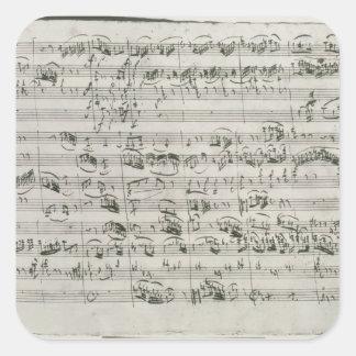 G major for violin harpsichord and violoncello square stickers