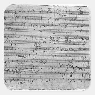 G major for violin harpsichord and violoncello square sticker