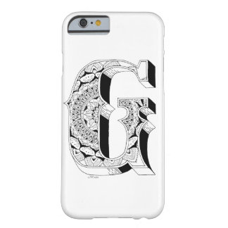 G - Mandala N°1 inside Alphabet N°1 Barely There iPhone 6 Case