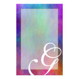"""G Monogram """"Garden Sunlight"""" Fine Lined Stationery"""