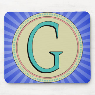 G MONOGRAM LETTER MOUSE PAD