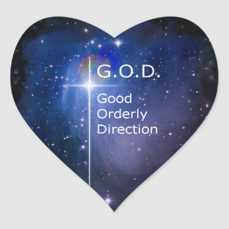 G.O.D. HEART STICKER