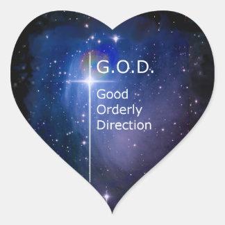 G.O.D. HEART STICKER