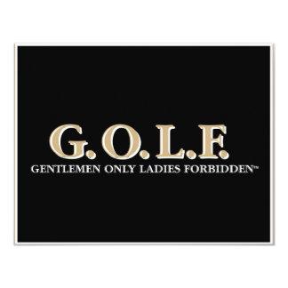 G.O.L.F GENTLEMEN ONLY LADIES FORBIDDEN CARD