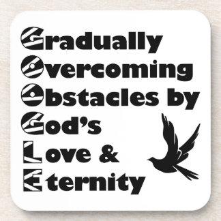 G O O G L E Christian Acronyms Faith Black and Wh Coasters