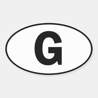 G Oval Identity Sign Oval Sticker