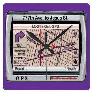 G P S God Personal Savior Square Wallclock