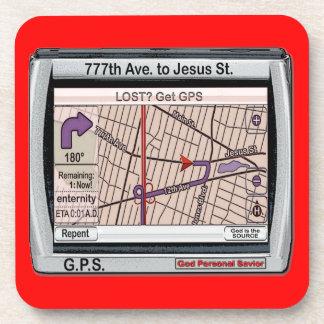 G P S God Personal Savior Coasters