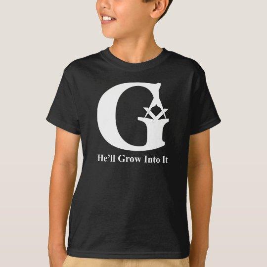 G REVERSE KIDS BLACK FLAT T-Shirt