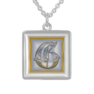 G Royal Initial Monogram Necklace Jewelry