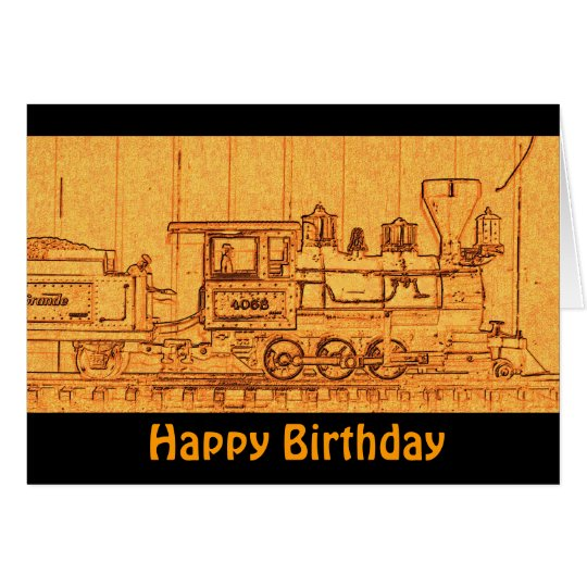 G Scale Model Train - Happy Birthday Card