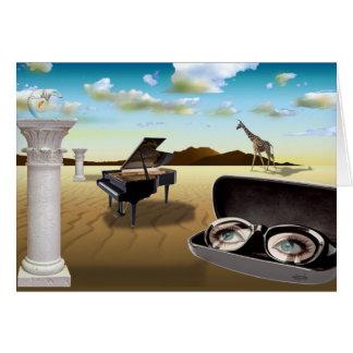 G Sharp - Surrealism by Cheryl Daniels Greeting Cards