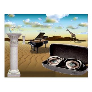 G Sharp - Surrealism by Cheryl Daniels Post Card