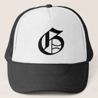 G-text Old English Trucker Hat