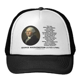 G. Washington External Trappings Elevated Office Trucker Hats