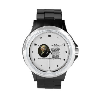 G. Washington External Trappings Elevated Office Wrist Watch