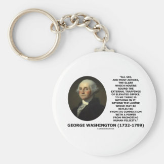 G. Washington External Trappings Elevated Office Basic Round Button Key Ring