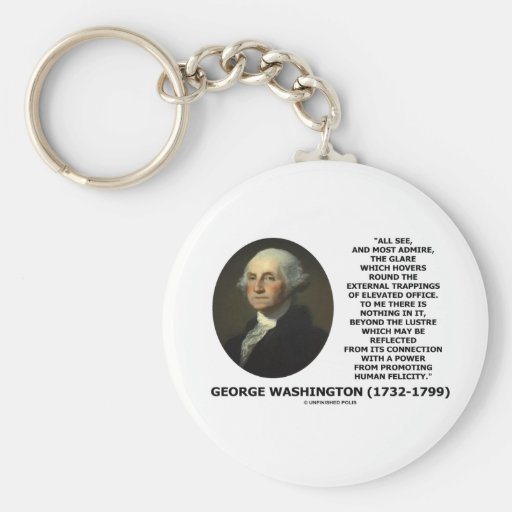 G. Washington External Trappings Elevated Office Key Chains