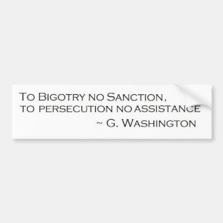 G. Washington Quote Bumper Sticker