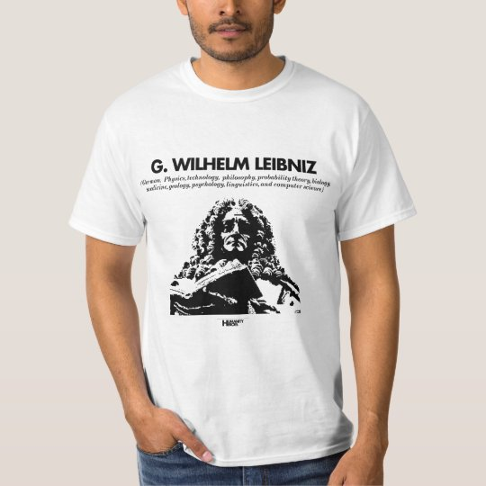 G. Whilelm Leibniz white T-shirt