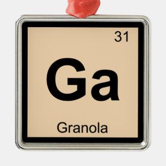 Ga - Granola Chemistry Periodic Table Symbol Christmas Ornament