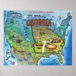 GA USA Map Poster