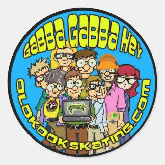 Gabba Gabba Hey Round Sticker