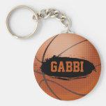 Gabbi Grunge Basketball Key Chain / Key Ring