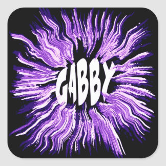Gabby Name Star Art Stickers
