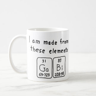 Gabi periodic table name mug
