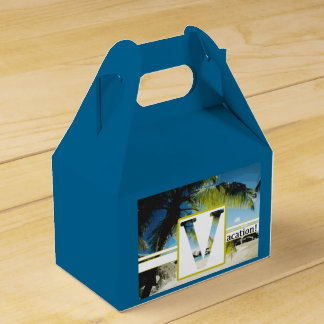 Gable Favor Box VACATION Wedding Favour Box