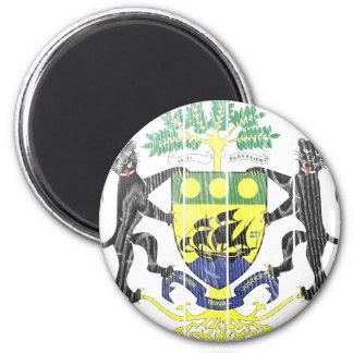 Gabon Coat Of Arms 6 Cm Round Magnet