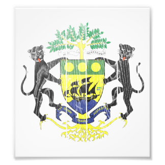 Gabon Coat Of Arms Photo Print