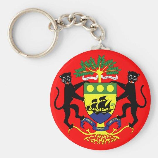 gabon emblem basic round button key ring