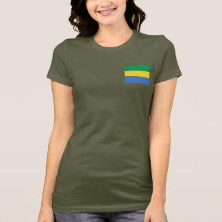 Gabon Flag and Map dk T-Shirt