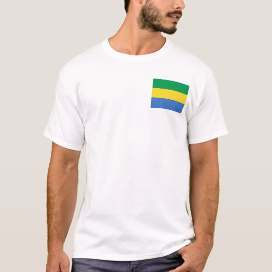 Gabon Flag and Map T-Shirt