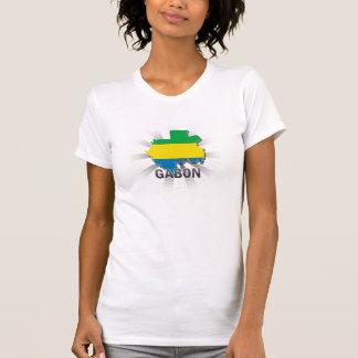 Gabon Flag Map 2.0 T-Shirt