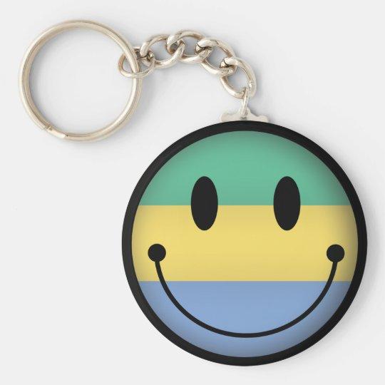 Gabon Smiley Basic Round Button Key Ring