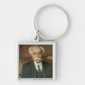 Gabriel Faure Silver-Colored Square Key Ring