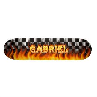 Gabriel skateboard fire and flames design