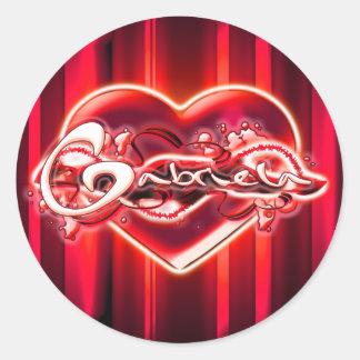 Gabriela Round Sticker