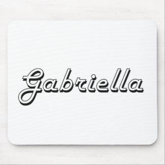 Gabriella Classic Retro Name Design Mouse Pad